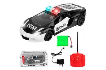 WGS 1:16 RC Remote Control Police Car for Kids, Rechargeable, Durable and Easy to Control, Xmas Gift for Boys Girls Age of 3,4,5,6,7,8-16 Year Old