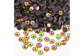(5mm, Rainbow) - Beadsland Crystal Hotfix Rhinestone,Machine Cut Stone 288pcs/pkg (Rainbow, 5mm)