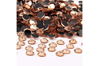 (4mm, Champagne) - Beadsland Crystal Hotfix Rhinestone,Machine Cut Stone 720pcs/pkg (Champagne, 4mm)