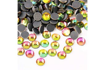 (6mm, Rainbow) - Beadsland Crystal Hotfix Rhinestone,Machine Cut Stone 144pcs (Rainbow, 6mm)