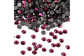 (3mm, Amethyst) - Beadsland Crystal Hotfix Rhinestone,Machine Cut Stone 1440pcs/pkg (Amethyst, 3mm)