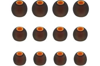 (S/M/L, Black/Orange) - ALXCD Ear Tips for JBL Lifestyle Tune 110BT in-Ear Headphones, 6 Pairs S M L Sizes Replacement Silicone Earbud Tips, Fit for JBL 110BT,Black/Orange
