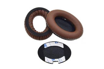 REYTID Replacement Dark Brown Ear Pads Kit for Bose QuietComfort 2 / QC15 / QC25 Headphones Cushions - 1 Pair Earpads