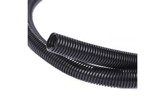 (1.3cm -7.6m) - Alex Tech 7.6m – 1.3cm Split Wire Loom Tubing Wire Conduit – Black