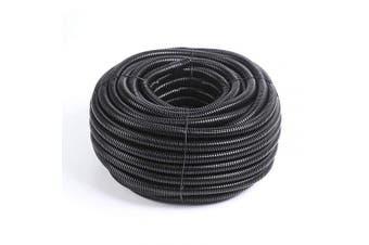 (1.6cm -7.6m) - Alex Tech 7.6m – 1.6cm Split Wire Loom Tubing Wire Conduit – Black