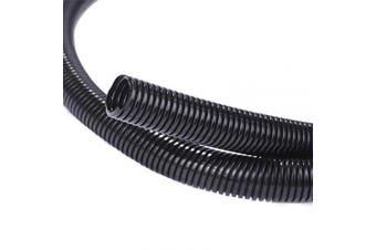(1.6cm -15m) - Alex Tech 15m – 1.6cm Split Wire Loom Tubing Wire Conduit – Black