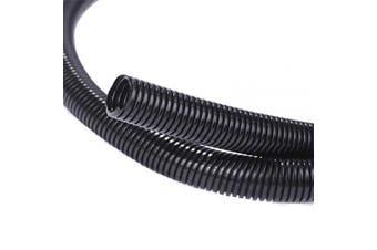 (0.6cm -30m) - Alex Tech 30m – 0.6cm Split Wire Loom Tubing Wire Conduit – Black