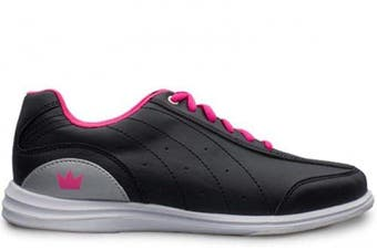 (9.5) - Brunswick Ladies Mystic Bowling Shoes- Black/Pink 9 1/2