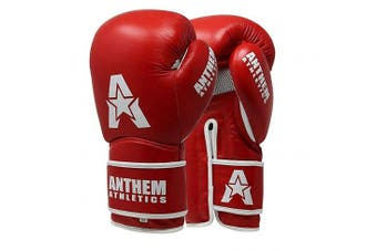 (410ml, Prime Red) - Anthem Athletics STORMBRINGER II Leather Boxing Gloves - Muay Thai, Kickboxing, Striking