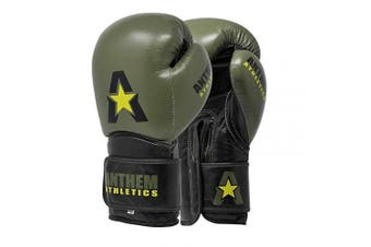 (410ml, Army Tri) - Anthem Athletics STORMBRINGER II Leather Boxing Gloves - Muay Thai, Kickboxing, Striking