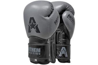 (410ml, Ghost Grey) - Anthem Athletics STORMBRINGER II Leather Boxing Gloves - Muay Thai, Kickboxing, Striking