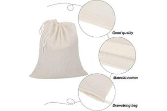 4 Pieces Cheesecloth Bags Nut Milk Strainer Cotton Muslin Bags Mesh Food Bags for Yoghurt Coffee Tea Juice Wine Supplies (Large (30cm x 36cm ))
