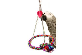 (Chain Pyramid) - Bonka Bird Toys Chain Pyramid Rope Swing Bird Toy Parrot cage Toys Cages Cockatiel Conure Amazon Cockatoo