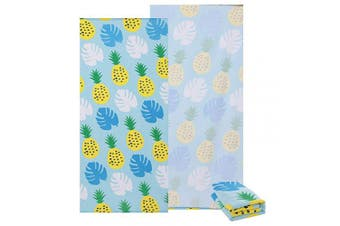 (Pineapple2) - Sharemily home Microfiber Beach Towel Large Beach Blanket for Gym,Fitness,Swimming,Sports,Travel,Camping,Hiking,Yoga,Pilates,Bath,Sand Free Oversized 80cm x 150cm Towel for Kids & Adults (pineapple2)