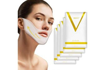 V Line Mask Chin Up Patch Double Chin Reducer Chin Mask V Up Contour Tightening Firming Face Lift Tape Neck Mask V-Line Lifting Patches V Shape Face Lifting 5 pcs