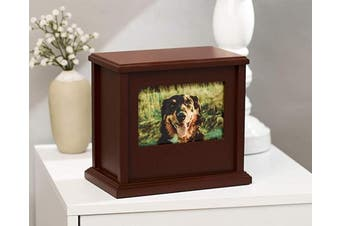 (Traditional Pet Urn, Espresso) - Pearhead Pet Memorial Urn, Cat or Dog Memory Box, Pet Memorial Keepsake