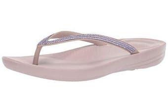 (7 UK, Pink (Mink 068)) - Fitflop Women's iQushion Sparkle Flip Flops