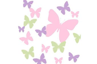 Butterfly Wall Decals- Pink, Sage Green & Lilac Girls Butterfly Wall Stickers