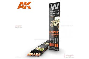 AK Interactice Weathering Pencil Set ~ Rust and Streaking Effects Set 10041
