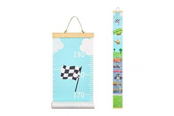 (Vehical) - Basumee Height Chart for Kids Vehical Wall Ruler Growth Chart Wood and Canvas Wall Decals 20x200 cm