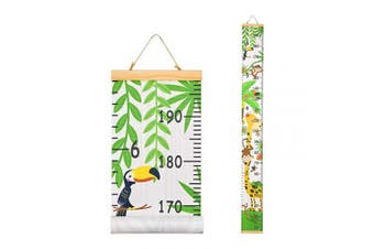 (Zoo) - Basumee Height Chart for Kids Zoo Wall Ruler Growth Chart Wood and Canvas Wall Decals 20x200 cm