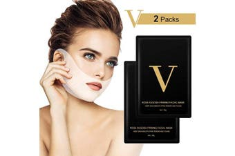 V Line Lifting Face Mask, 2 Pcs Chin Up Tightening Patch, Double Chin Reducer Intense Lift Layer Mask, V Shape Slimming Facial Neck Mask, V Line Firming Moisturising Tape Mask for Face and Neck Lift