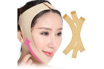 Face-Lifting Bandage, V Face Slimming Bandage Facial Cheek Breathable Strap Double Chin Reducer Belt for Women Men Gift
