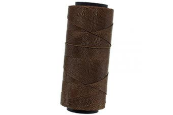 (Brown) - 144 Metres of Waxed 2-Ply Polyester Brazilian Cord – for Jewellery Making, Macramé, Beading, Home Décor, and General Crafting (Brown)