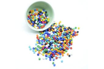 (4mm, multicolored) - Catotrem Glass Seeds Beads Small Pony Beads Multi Colours Loose Beads for Jewellery Making(4mm/50Gr/550Pcs) Multi-Coloured