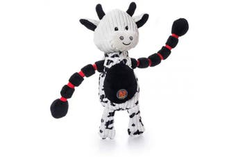 (Cow) - Charming Pet Thunda Tugga Plush Dog Toy - Tough and Durable Interactive Soft Animal Squeaky Tug Toy