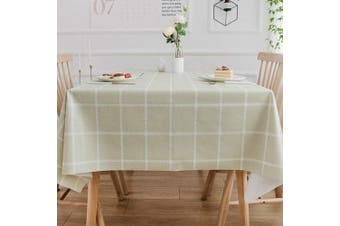(137x137 cm, Plaid-3) - Plenmor Heavy Weight Vinyl Tablecloth for Rectangle Table Wipe Clean PVC Table Cloth Oil-Proof/Waterproof Stain-Resistant/Mildew-Proof … (137x137 cm, Plaid-3)