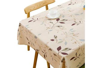 (137x185 cm, Autumn Leaves) - Plenmor Heavy Weight Vinyl Tablecloth for Rectangle Table Wipe Clean PVC Table Cloth Oil-Proof/Waterproof Stain-Resistant/Mildew-Proof (Autumn Leaves, 137x185 cm)