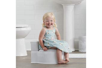 Regalo 2-in-1 My Little Potty Training Toilet, Grow with Me & On The Go, Bonus Kit, Flushing Sound, Removable Training Transition Potty Seat, Oversized Foam Soft Seat & Wipe Storage, White