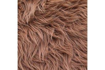 (25cm  X 25cm , Light Brown) - Barcelonetta | Faux Fur Squares | Shaggy Fur Fabric Cuts, Patches | Craft, Costume, Camera Floor & Decoration (Light Brown, 25cm X 25cm )