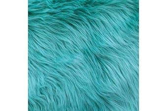 (25cm  X 25cm , Turquoise) - Barcelonetta | Faux Fur Squares | Shaggy Fur Fabric Cuts, Patches | Craft, Costume, Camera Floor & Decoration (Turquoise, 25cm X 25cm )