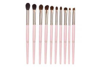 (Pink) - ENERGY Eye Makeup Brush Set Professional Eyeshadow Brush Set 10pcs Make Up Brush Kit for Eye liner Crease Eye Shader,Eyeliner,Eye Blending,Eye Defining,Eye Brown brush,Eye Smudged-Nature Hair(Pink)