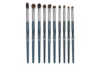 (Starry Blue) - ENERGY Eye Makeup Brush Set Professional Eyeshadow Brush Set 10pcs Make Up Brush Kit for Eye Shader,Eyeliner,Eye Blending,Eye Defining,Eye Brow,Eye Smudged-Nature Hair(Starry Blue)