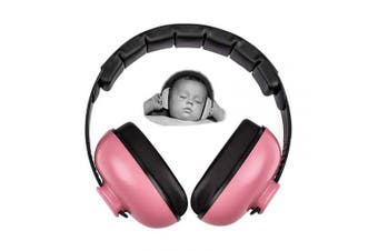 (Pink) - Baby Earmuffs Infant Hearing Protection Noise Cancelling Headphones for 3 Months to 2 Years Babies (Pink)