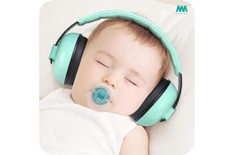 (Aqua) - Baby Ear Protection Noise Cancelling Headphones for Babies and Toddlers - Mumba Baby Earmuffs - Ages 3-24+ Months - for Sleeping, Studying, Aeroplane, Concerts, Movie, Theatre, Fireworks