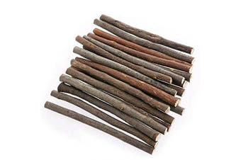 Beauy Girl 100pcs 4 Inch Long 10cm 0.1-0.2 Inch in Diameter Wood Log Sticks for DIY Crafts Photo Props