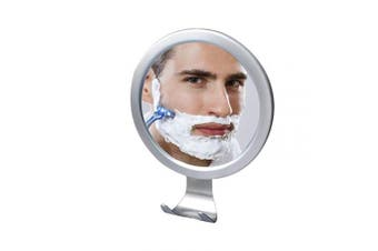 Fogless Shower Mirror for shaving , fog free Bathroom Mirror with Razor Holder,Shaving Mirror with Locking Suction cup hooks,suitable for man and husband