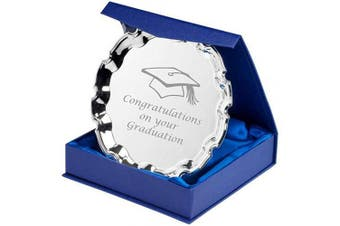 Lapal Dimension 10cm Graduation Silver Plated Salver with Gift Box