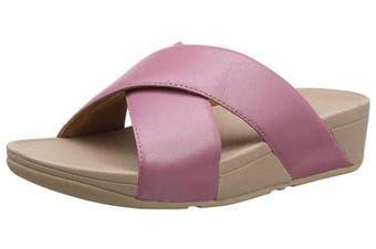 (3 UK, Pink (Rose 729)) - Fitflop Women's Lulu Cross Slide Open Toe Sandals