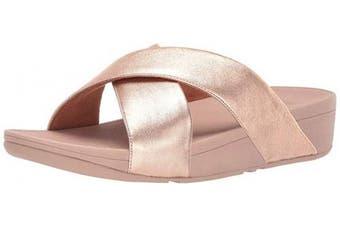 (8 UK, Pink (Rose Gold 323)) - Fitflop Women's Lulu Cross Slide Open Toe Sandals