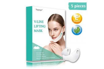 Yegrape V Line Face Lift Double Chin Reducer Neck Mask Face Intense Lifting Layer Mask Double Chin Reducer Moisturises and Tightens Mask 5pcs