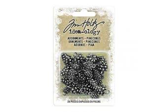 Advantus TH93633 Sewing Embellishments Antique Nickel Pinecones