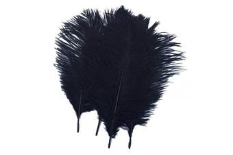 (14-16 inches (35-40cm), Black) - Real Natural Ostrich Feathers Great Decorations for Home Party Wedding Centrepieces (Black, 14-16 inches (35-40cm))