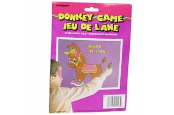 (Pack of 1, Multicolor) - Pin the Tail on the Donkey Game for 16