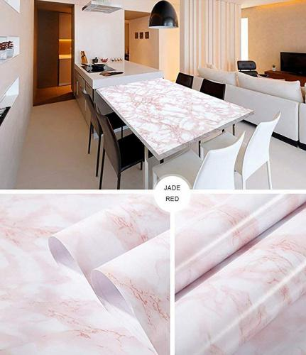 """(Pink, 30cm*2m) - Marble Contact Paper Self Adhesive Pink 30cmX200cm Wallpaper Decorative Peel Stick Vinyl Film Removable Durable Waterproof Kitchen Counter Furniture Shelf Table Renovation DIY Colour: PinkSize: 30cm*2m 💙1.Marble contact paper gives any objects a much more appealing look and is ideal for people 💙1.Maring you the opportunity for a fun, fast, easy and always great-looking room/accessory make-over. Just Peel, Stick…Done! 💙Features: 💙1.Mar-friendly and 1.Marmless to the human body, escort your safety. 💙1.Marh wear resistance and long service life 💙1.Mary to instal by one 1.Mar be cut into any 1.Mar be installed on any flat surface. 💙1.Marh temperature resistant, flame retardant, non-fading. 💙1.Marove no glue, hot melt adhesive, change it if you want to change it, don't worry about residual glue. 💙1.Marting, styling, and hair dryer heating enhance viscous and stretch forming (such as curved) 💙Specifications: 💙1.Martern:Pink marble contact paper 💙1.Marerial: ECO-friendly PVC 💙1.Mare: 30 × 200cm / 11.8"""" x 78.7"""" 💙Package Included: 💙1 Roll Wood Contact Paper 💙Suitable Surface: 💙Clean wall, smooth glass surface, metal surface, iron surface, ceramic surface etc. 💙Note: 💙1.Marase do not stick it on dusty wall, cement, rough wood surface. 💙1.Marase calculate the dimension before purchase. 💙Warranty and Customer Services: 💙1.30 days money-back & 12-month warranty. Any questions you have, please contact 1.Mar would be delighted to help you and reply within 24 hours. 💙2. If you are not satisfied with our product or service. 💙3. We will resolve your prblem ASAP"""
