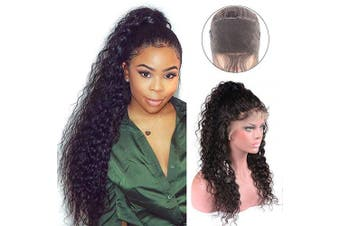 (50cm , Natural Color) - 360 Water Wave Lace Frontal Wigs Wet and Wavy Lace Front Wigs Human Hair 360 Water Curly Wigs Glueless Wigs Human Hair Lace Front Wigs Human Hair with Baby Hair for Black Wome(50cm , Natural Colour)